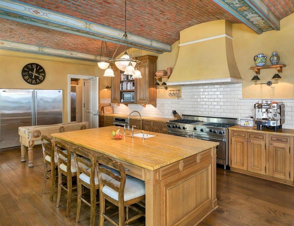 La cocina de la casa de Jon Bon Jovi.