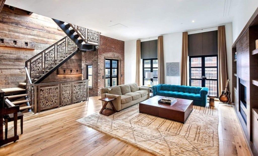 Salón de la casa de John Legend en Nueva York.