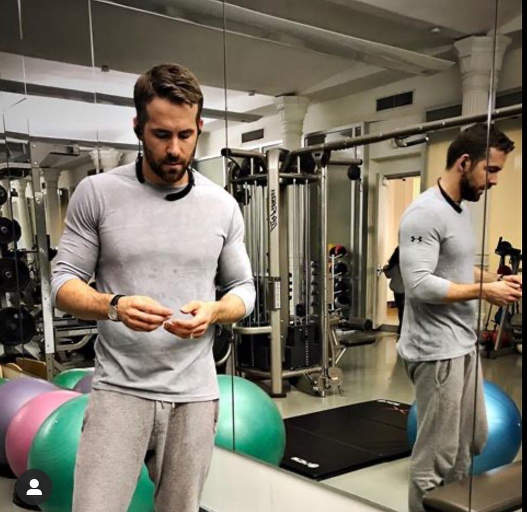 Ryan Reynolds en el gimnasio