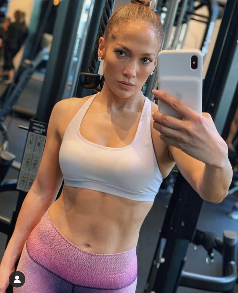 J.Lo en el gimnasio