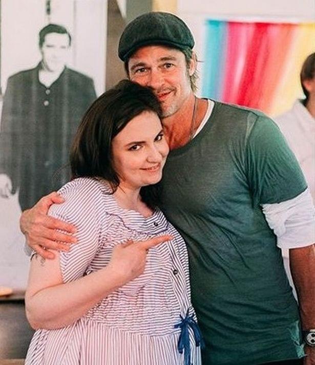 Lena Dunham y Brad Pitt. Dos buenos amigos