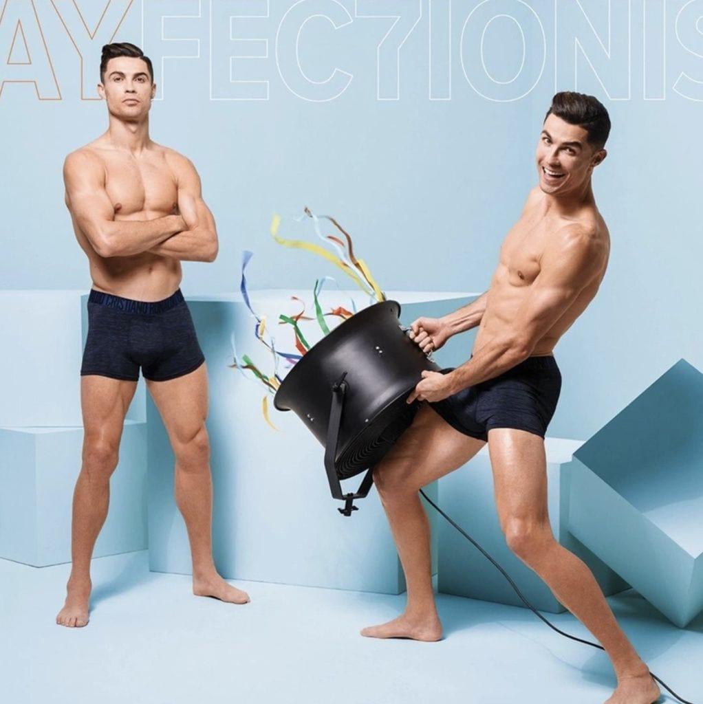 Cristiano Ronaldo en una campaña de ropa interior.