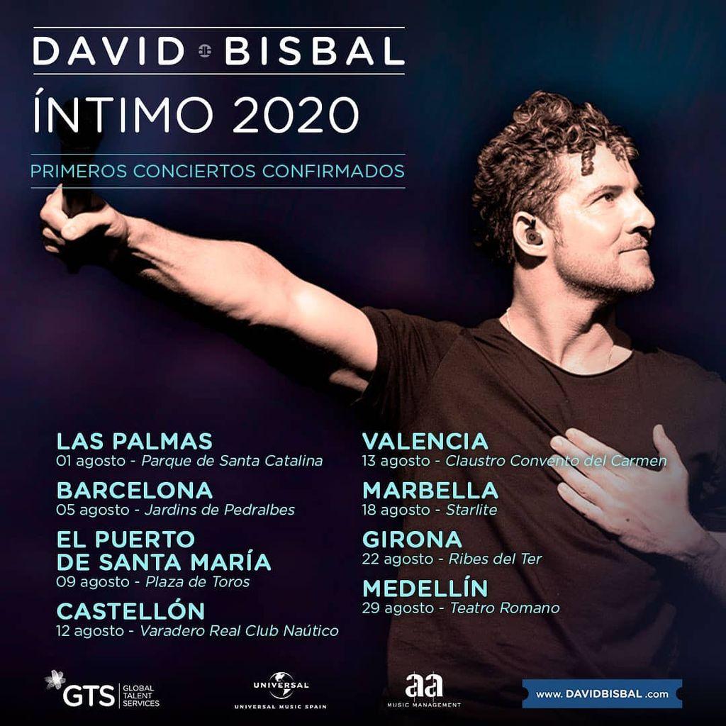 David Bisbal anuncia gira de conciertos para este verano
