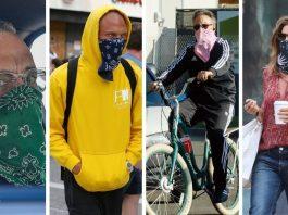 ¿Por qué los famosos llevan bandana en vez de mascarilla