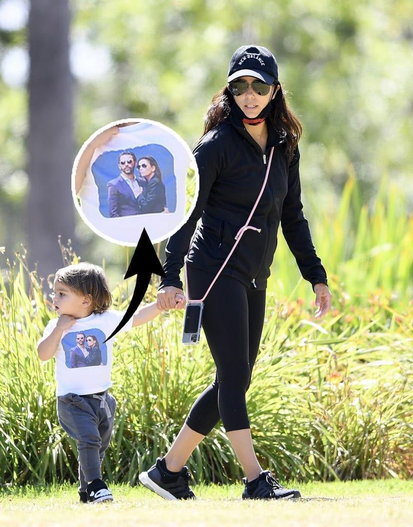 Eva Longoria paseando con su hijo Santi