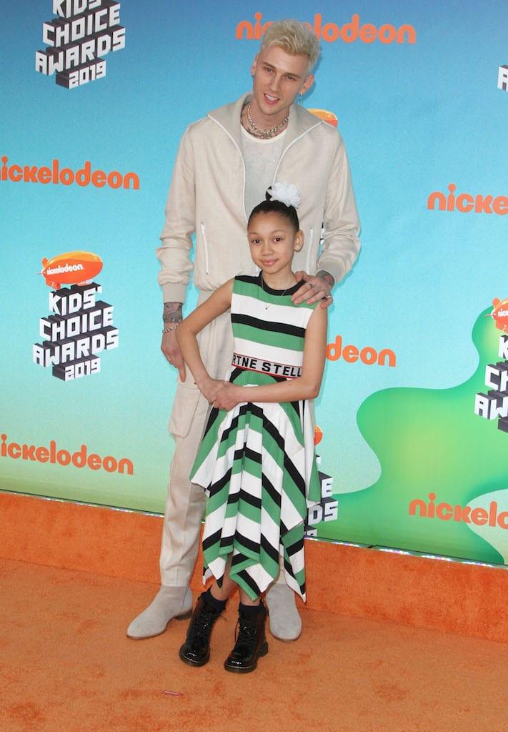 Machine Gun Kelly y su hija Casie.