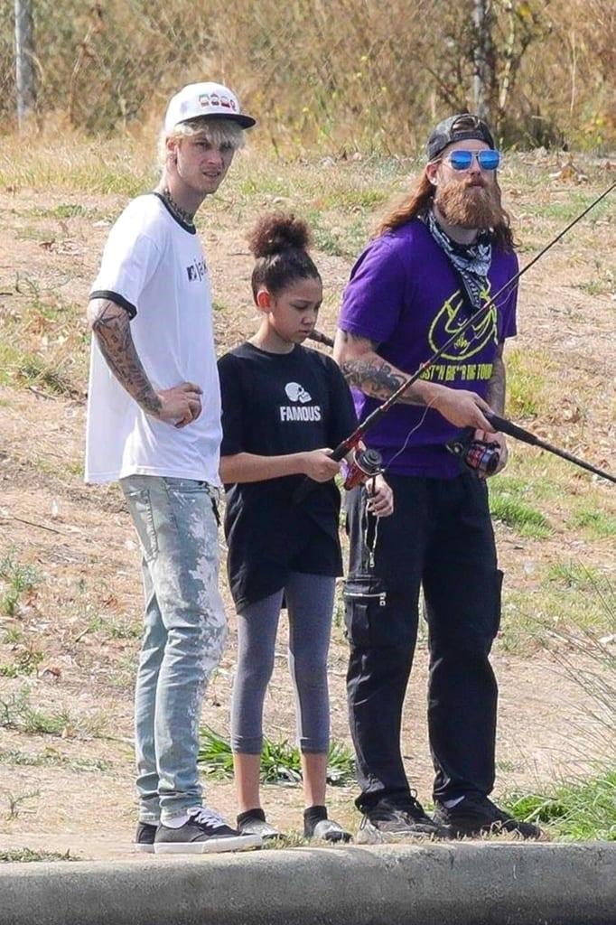 Machine Gun Kelly y su hija Casey.