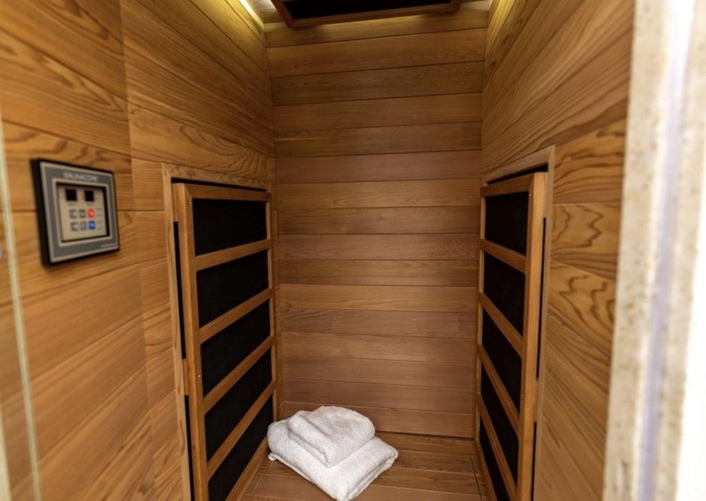 Sauna en la caravana de Justin Bieber
