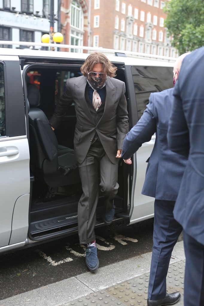 Johnny Depp llegando a los juzgados. Foto: Agencias.