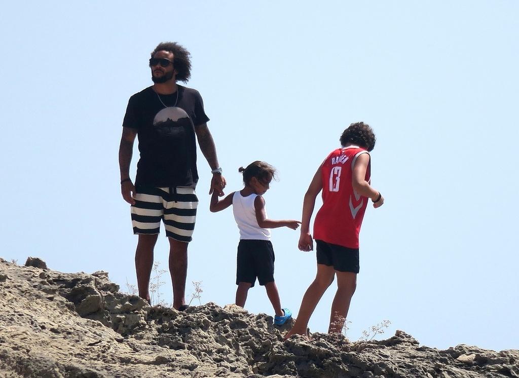 Marcelo con su familia en Ibiza