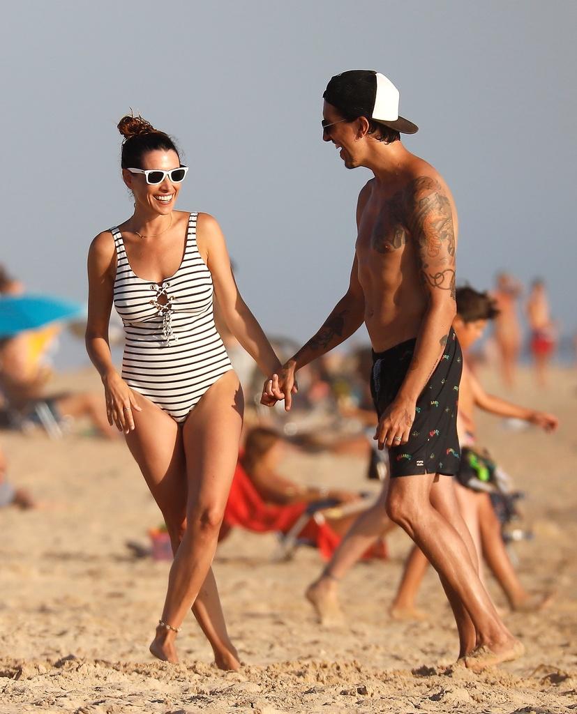 Marrón y Arancha Morales en las playas de Cádiz