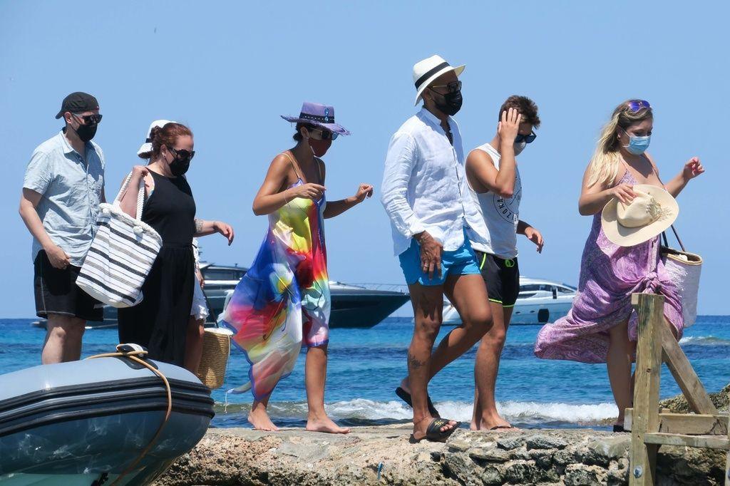 Tamara Gorro de vacaciones en Ibiza.