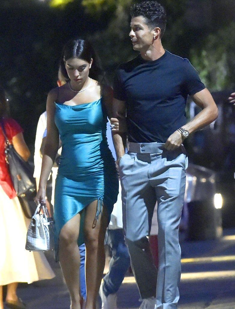 Cristiano y Georgina paseando por Portofino
