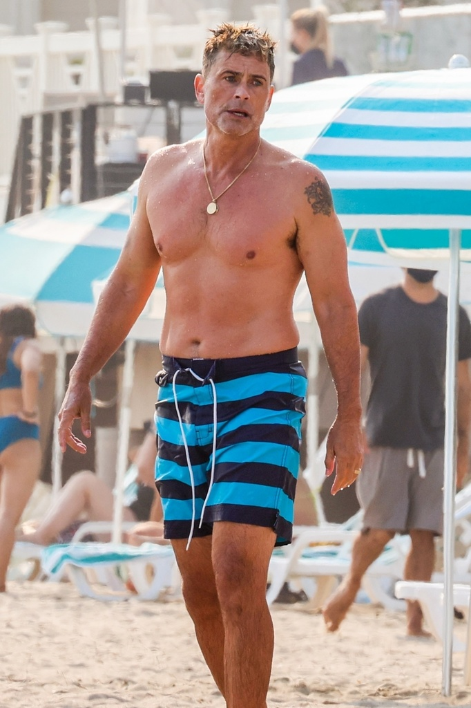 Rob Lowe en la playa