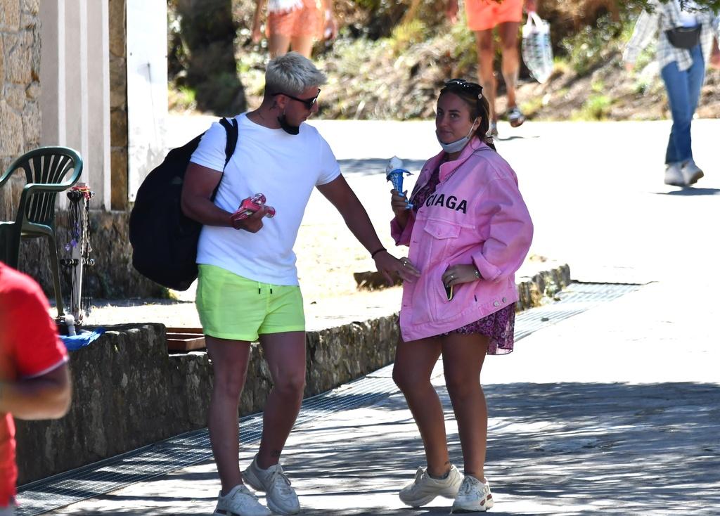 Rocío Flores y su novio.