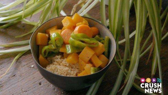 Receta de tabulé de verduras.