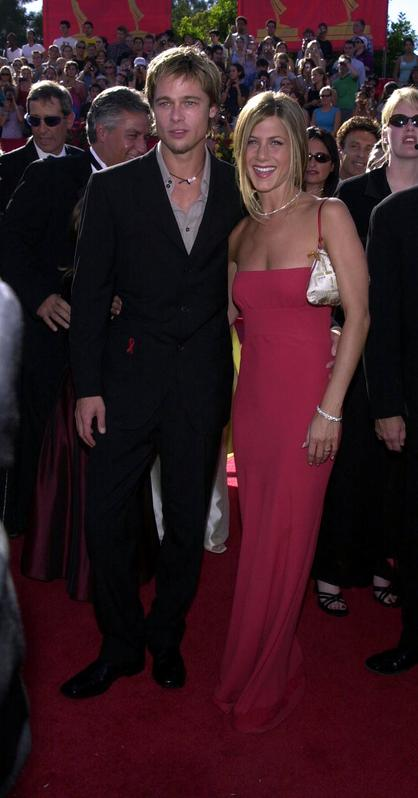 Brad Pitt y Jennifer Aniston juntos en los Emmy Awards