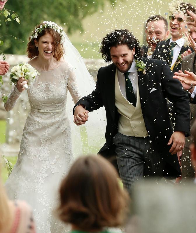 Kit Harington y Rose Leslie serán padres por primera vez. Aquí en su boda.crush.news.