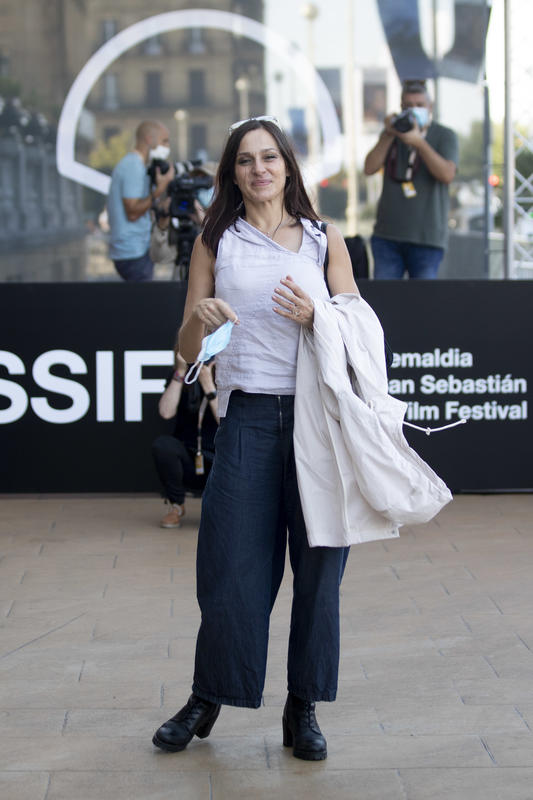 La actriz Natalia Millán llegando al Zinemaldía 2020.crush.news.