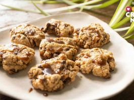 Receta de cookies de chocolate y cacahuete con caramelo