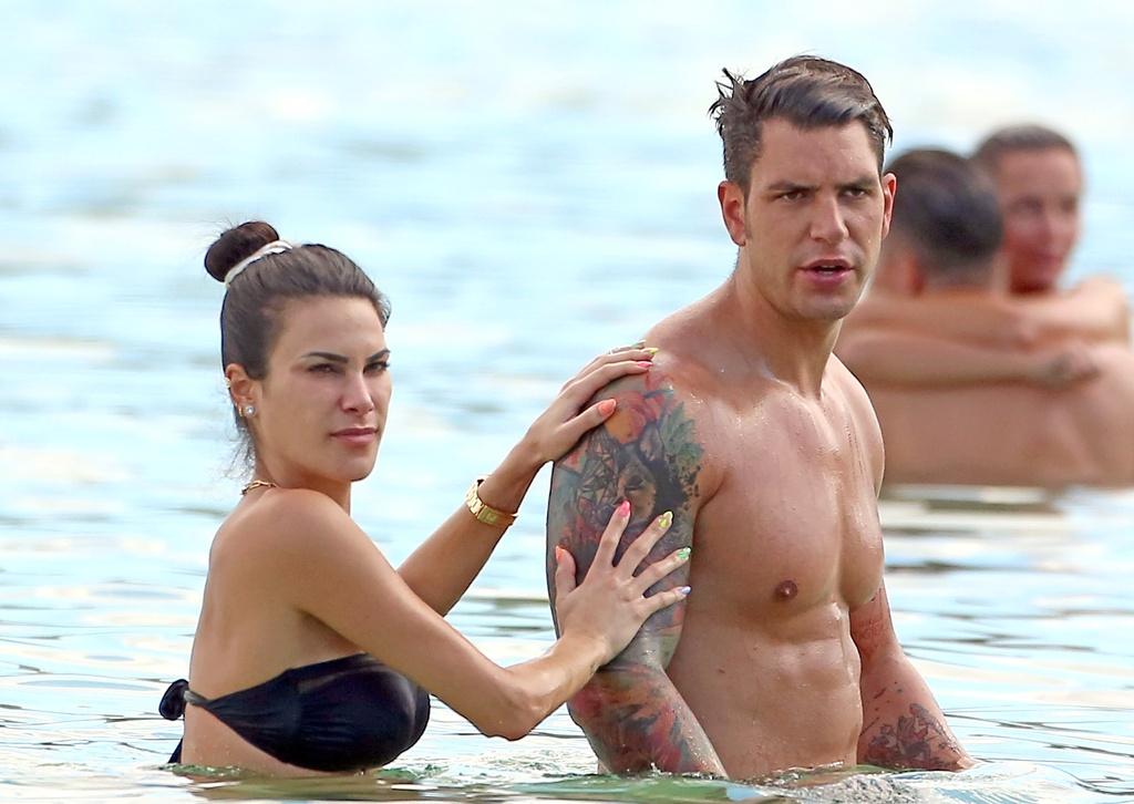 Diego Matamoros y Carla Barber en Ibiza.