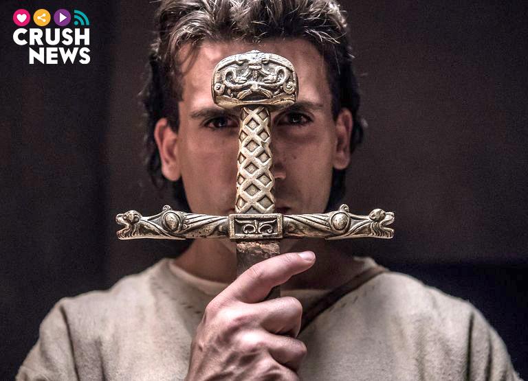 Jaime Lorente en el rodaje de 'El Cid'