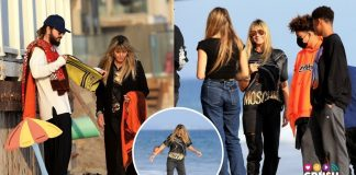 Heidi Klum en familia en la playa son multitud.crush.news.