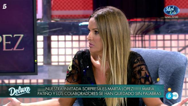 Marta López vuelve a Mediaset