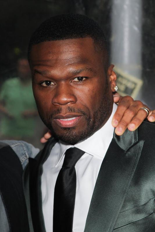 Primer plano del rapero 50 Cent