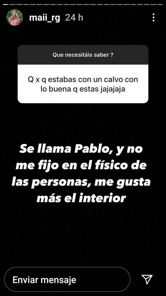 Mayka defiende a Pablo en Instagram.