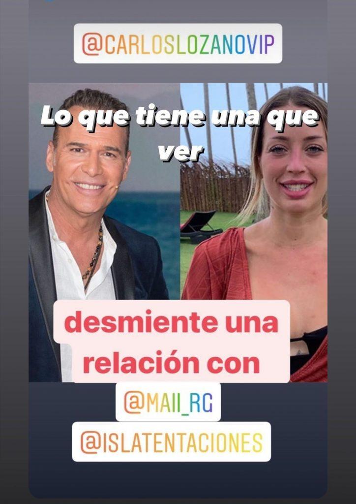 Mayka y Carlos Lozano juntos: ella lo desmiente.