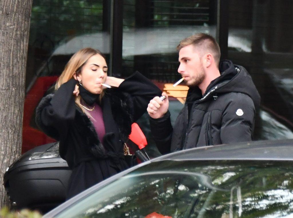 Tom Brusse y Sandra Pica, comida en Madrid.