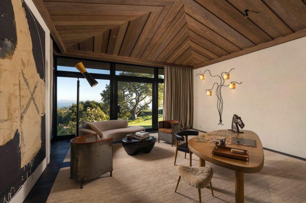 Una sala de estar de la casa de Ellen Degeneres
