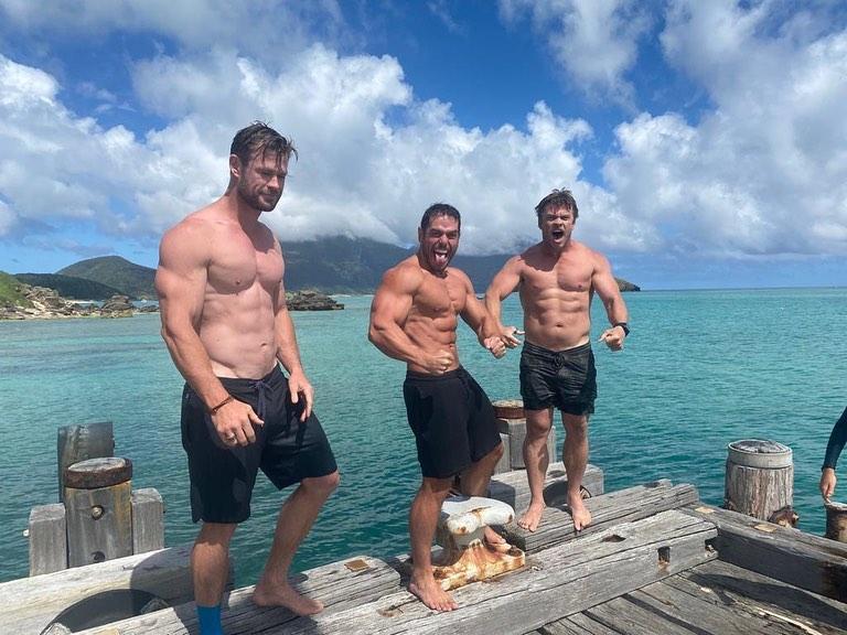 Chris Hemsworth y Elsa Pataky pasan el fin de semana en el paraíso.crush.news.