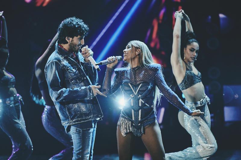 Danna Paola y Sebastián Yatra juntos en los Premios Juventud
