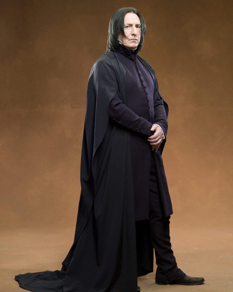 Alan Rickman caracterizado como Severus Snape