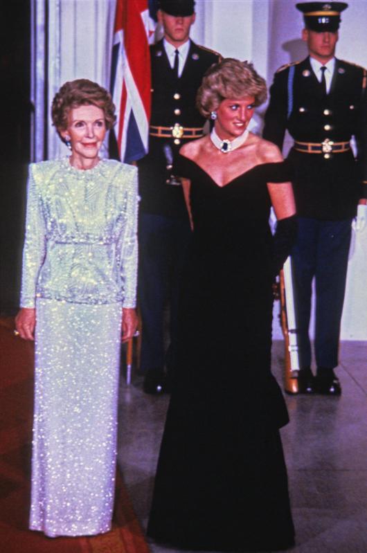 Lady Di, con Nancy Reagan.