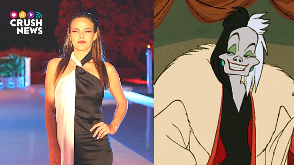 Marta Peñate en plan Cruella de Vil.