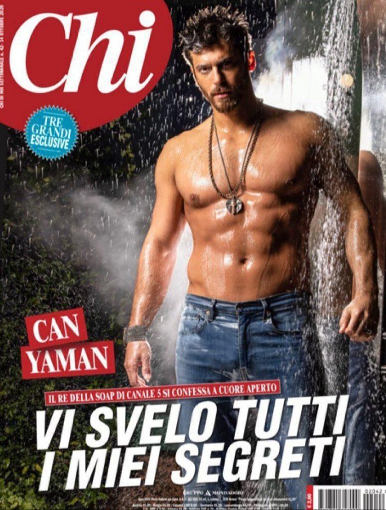 La portada de Can Yaman en la revista italiana 'Chi'