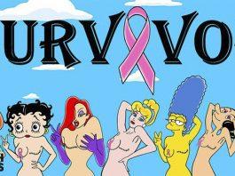 Princesas Disney y personajes de dibujos contra el cáncer de mama