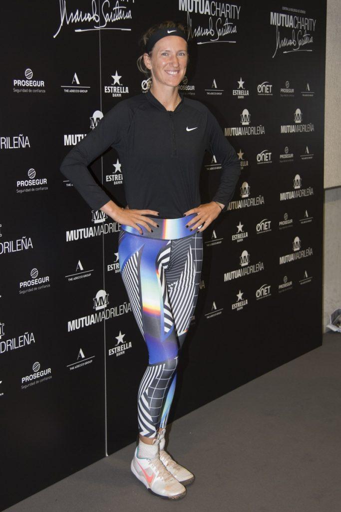 Victoria Azarenka en una partido de tenis benéfico en Madrid