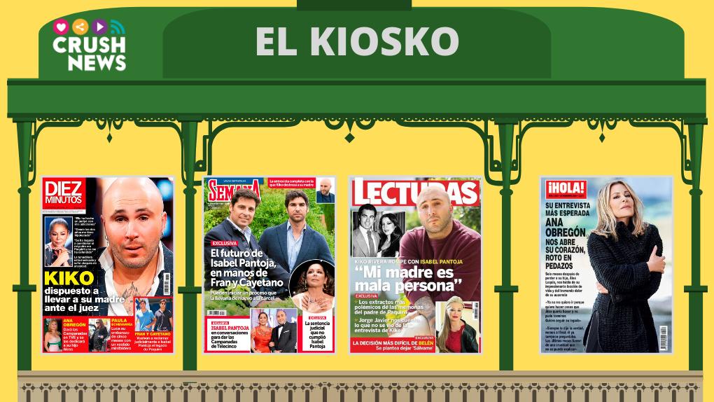 Las portadas de las revistas del corazón.