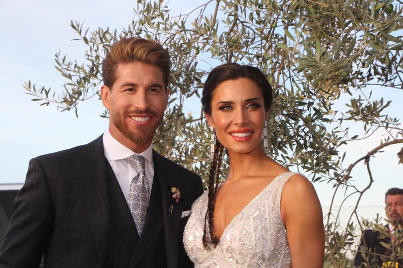 Sergio Ramos y Pilar Rubio el día de su boda