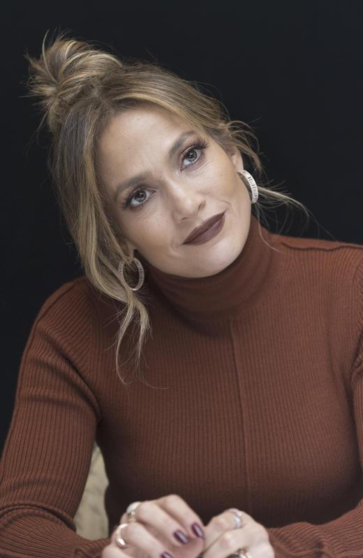 Jennifer Lopez, en una conferencia de prensa en 2018