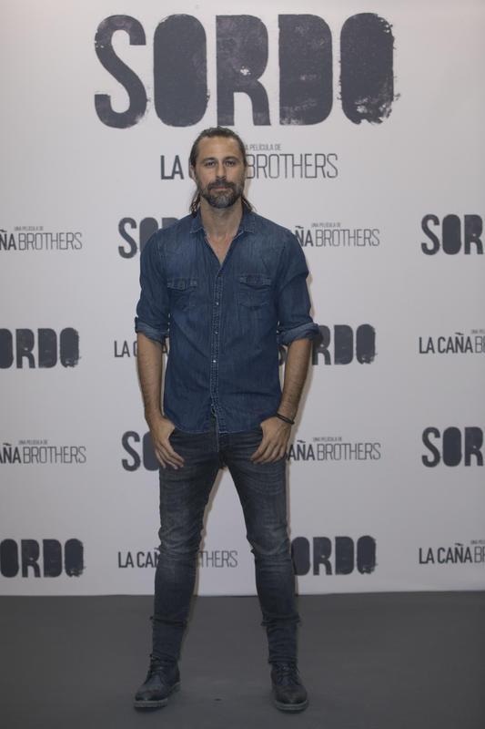 Hugo Silva, en el photocall de la película Sordo