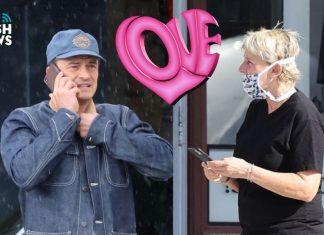 Orlando Bloom y Ellen DeGeneres