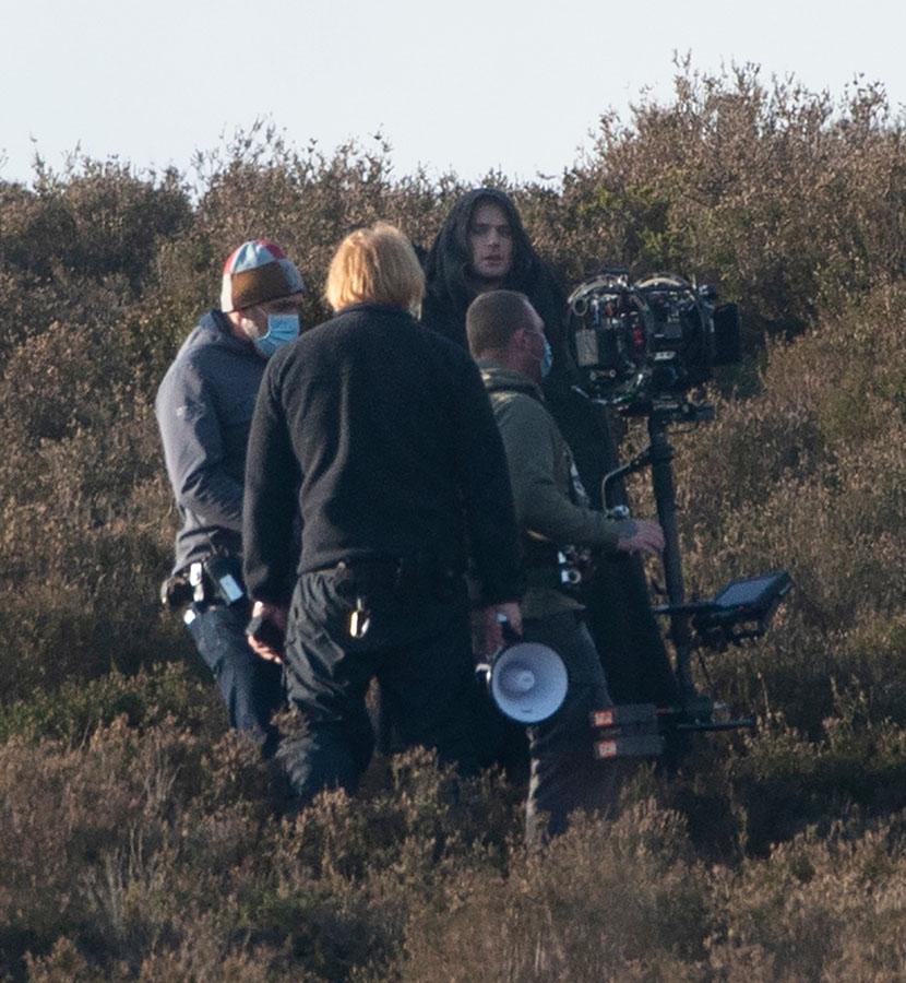 Henry Cavill rueda una escena de la termporada 2 de The Witcher
