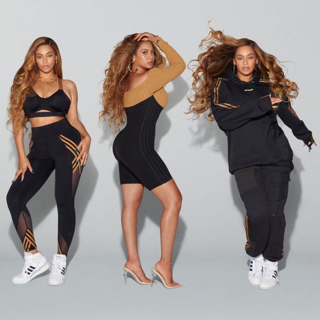 Beyoncé, con la línea Adidas en color negro