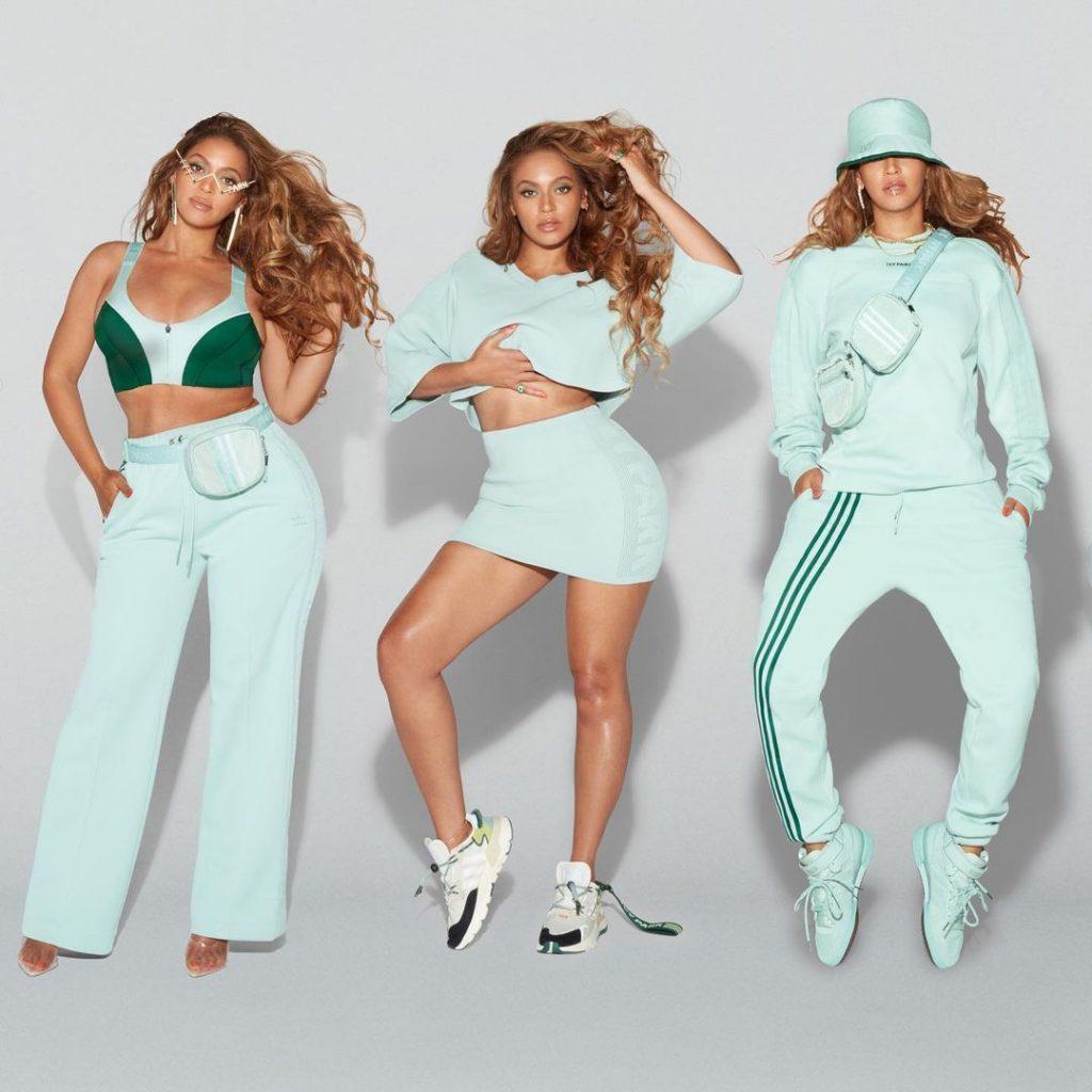 Beyoncé, con la línea color menta de Adidas