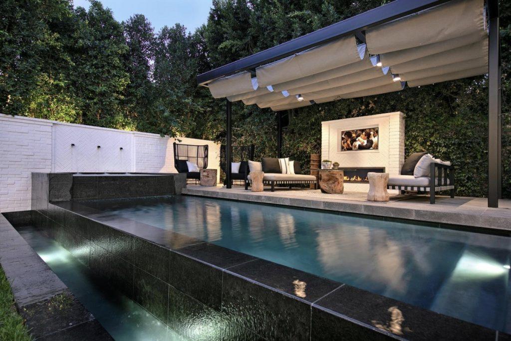La piscina de la casa que venden Justin y Hailey